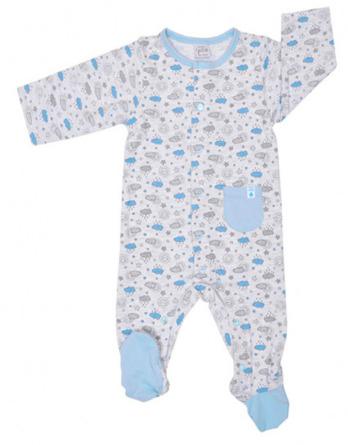 Pelele de niño bebé algodón m/l gris y azul