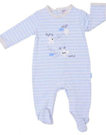 Pelele de niño bebé algodón m/l rayas azul