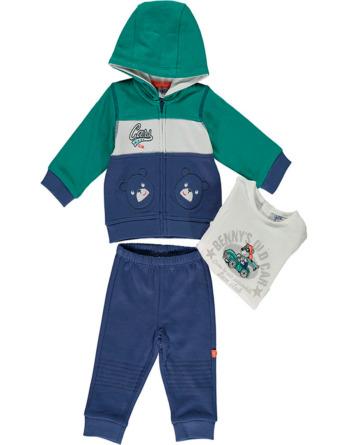 Chándal de bebé niño de algodón azul y verde