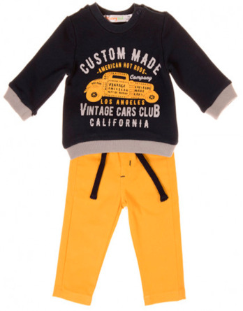 Conjunto de bebé niño pantalón de loneta amarillo