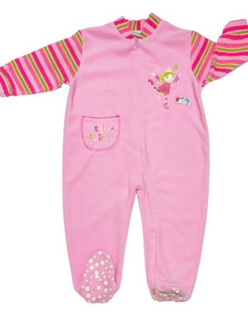 Pelele de niña bebé polar m/l rosa