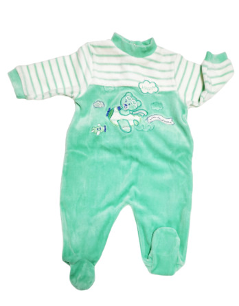Pelele de niño bebé terciopelo m/l verde