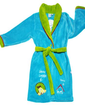 Bata de niño polar verde azulada