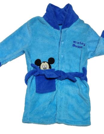 Bata de niño polar Mickey azul