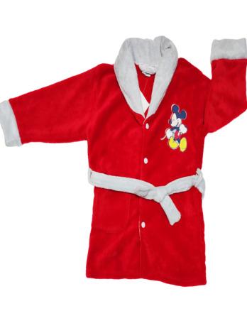 Bata de niño polar Mickey roja