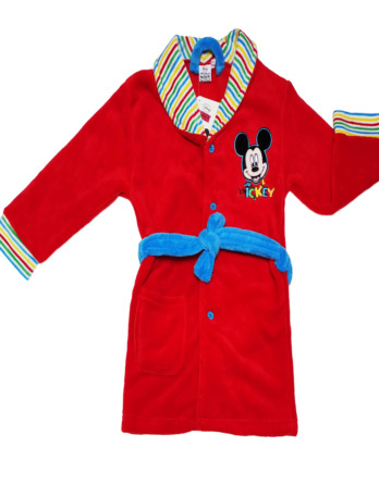 Bata de niño polar Mickey roja M04108