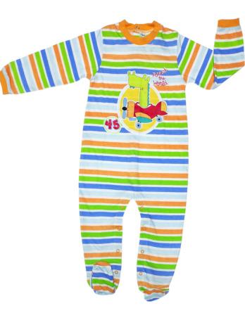 Pelele de niño bebé algodón m/l rayas colores
