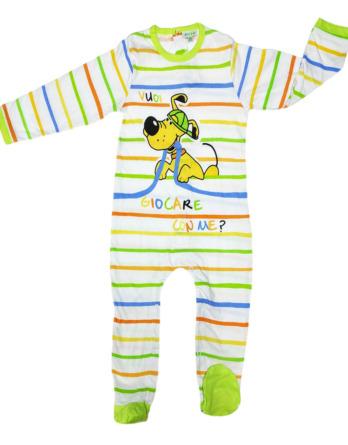 Pelele de niño bebé algodón m/l rayas verdes