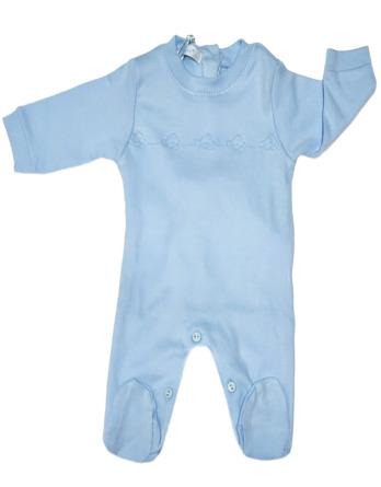 Pelele de niño bebé algodón m/l celeste