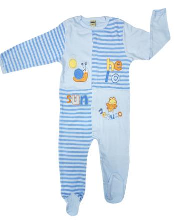 Pelele de niño bebé algodón m/l rayas celeste