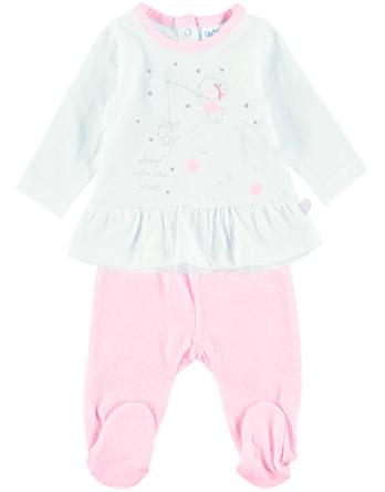 Conjunto primera puesta bebé niña algodón nube rosa