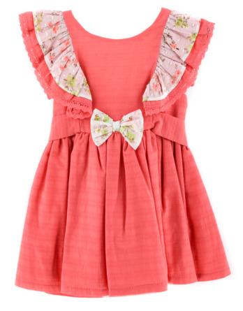 Vestido de niña coral