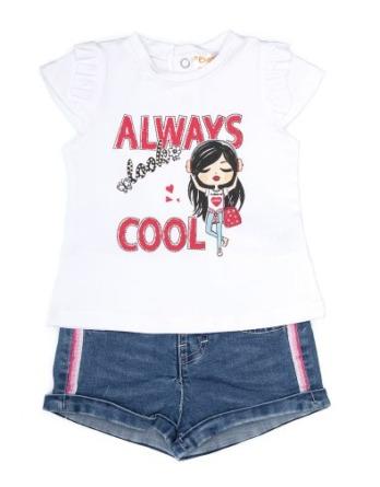 Conjunto de niña verano always cool con vaquero corto