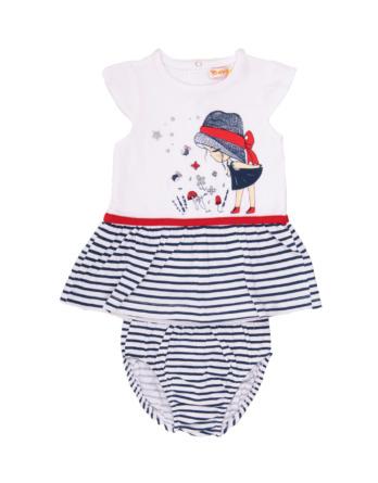 Vestido de bebé niña verano marinero con braguita