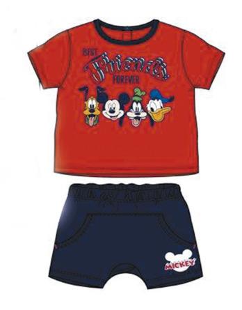 Conjunto de bebé niño verano Mickey rojo y marino