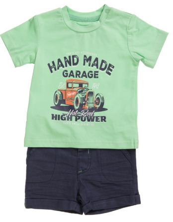 Conjunto de niño verano verde con pantalón corto