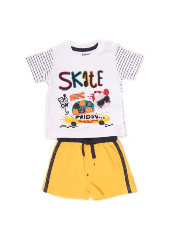 Conjunto de niño verano amarillo con pantalón corto