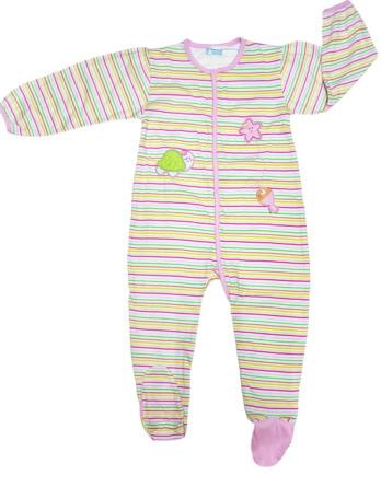 Pelele de bebé niña bebé m/l rayas rosas