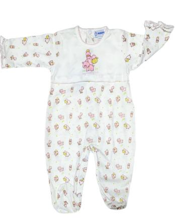 Pelele de bebé niña bebé m/l granja