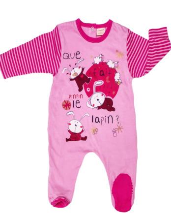 Pelele de bebé niña bebé m/l rosa